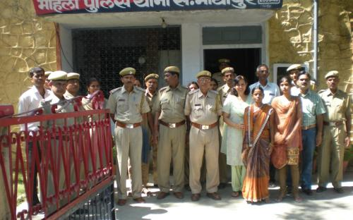 On 04.10.2011 Member NCW, Dr Charu WaliKhanna at Mahila Police Station, Sawaimadhopur alongwith SHO Sh Jagdish Singh and his team, Mr Mani Lal Teergar, Deputy Director , Women & Child Development Dept. Rajasthan