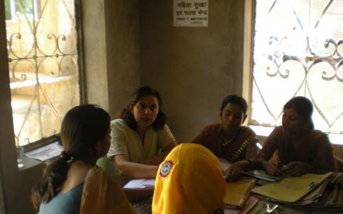 On 04.10.2011Member NCW, Dr Charu WaliKhanna alongwith NGO staff and police, counseling victim