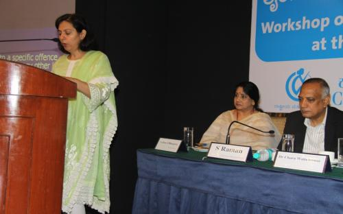 Dr. Charu WaliKhanna, Member, NCW addressing the participants