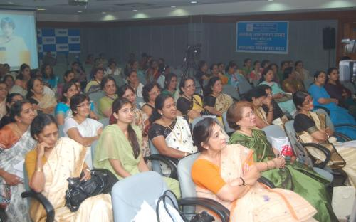 View of participants listening with interest