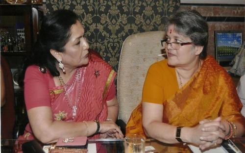 Left to Right: Mrs. Alka Bangur- President All India Marwari Mahila Samity and Mrs. Mamta Sharma - Chairperson NCW