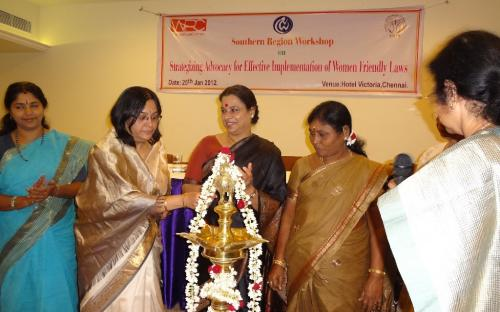 Southern Regional Level Workshop on Strategizing Advocacy for Effective Implementation of Women Friendly Laws Organised by National Commission for Women and Women Power Connect
