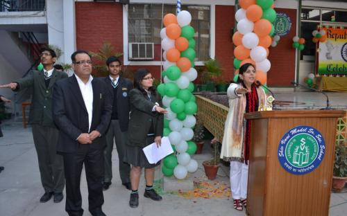 Dr. Charu WaliKhanna, Member NCW, Chief Guest at 63rd Republic Day Programme And Annual Prize Distribution Ceremony at Shiv Vani Model Senior School