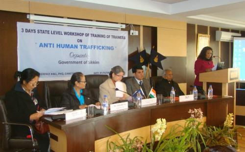 Hon'ble Chairperson attended a three days state level workshop of training of trainers on anti human trafficking at Sikkim organized Govt. of Sikkim