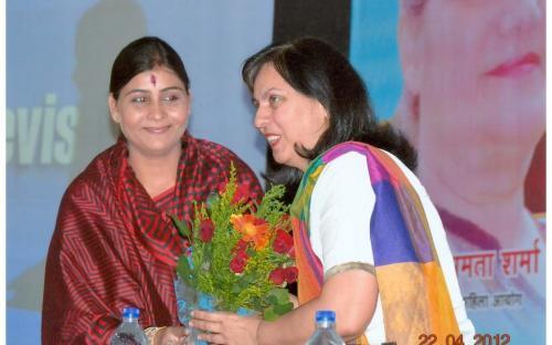 Mrs. Mamta Sharma, Chairperson NCW accompanied by Dr. Charu WaliKhanna, Member, NCW attended a Jan Sunwai Programme organized by the NGO Hamari Priyadarshini Ek Vichar at  Bhopal, Madhya