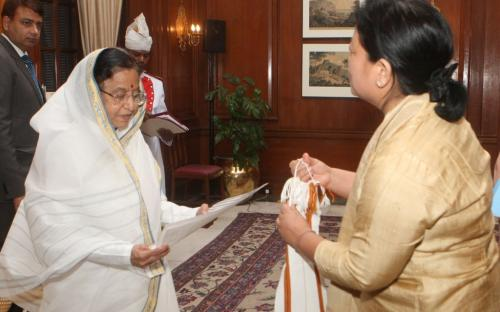 A delegation from the Commission visited her Excellency the President of India, Smt Pratibha Patil