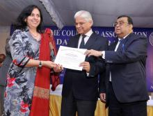 Dr. Charu WaliKhanna Member, NCW was honoured for authoring book, on Law Day, the 26th November, 2012