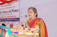 "Smt Mamta Sharma, Chairperson NCW was the chief guest at National Seminar ""Domestic Violence And Women"" organized by Department of Psychology, R. D. Girls College, Bharatpur, Rajasthan"