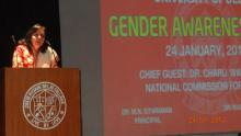 Dr. Charu WaliKhanna, Member NCW was Chief Guest at GENDER AWARENESS CAMP held at Zakir Husain Post graduate Evening College, University of Delhi