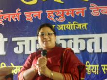 Ms. Hemlata Kheria, Member, NCW was the chief guest at LAP organized by UMMANG, Partners in Human Development held in Dist. Noorsarai, Bihar