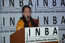 Ms Nirmala Samant Prabhavalkar, Member, NCW attended Indian National Bar Association (INBA), Mumbai Conference, held