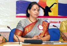Smt. Nirmala Samant Prabhavalkar, Member, NCW was the guest at 22nd Ashirwad Rajbhasha Puraskaar Samaroh