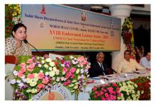 Ms. Shamina Shafiq, Member, NCW attended XVIII Endowment Lecture Series organized by Saint Shri Dnyaneshwara & Saint Shri Tukaram Endowment Lecture Series Trust and World Peace Center