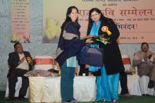 Dr. Charu WaliKhanna, Member, NCW was Guest of Honour at Grand Kavi Sammelan organized by Delhi Hindi Sahitya Sammelan and GK-II, RWA on 1st March, 2014