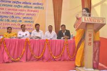 Ms. Hemlata Kheria, Member, NCW addressing the participants during seminar on Dowry at Uttar Pradesh