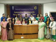 Hon'ble Chairperson & Members of NCW, with the representatives of the State Women Commission
