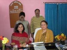 Dr Charu WaliKhanna, Member NCW with Smt. Hemlatha Mohan, Chairperson State Commission for Women, Jharkhand and Shri Chandra Shekhar Jha and Arvind Kumar Jha, Legal Advisor