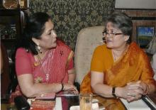 Left to Right: Mrs. Alka Bangur- President All India Marwari Mahila Samity and Mrs. Mamta Sharma - Chairperson NCW